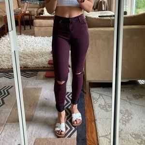 Topshop Mid-Rise Motto Leigh Jeans, Size 25
